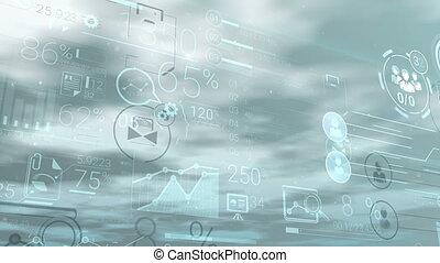 financier, constitué, clair, infographic, fond, données
