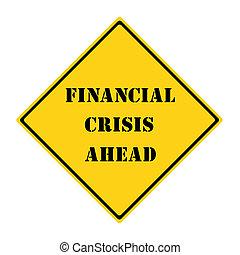 financier, crise, devant, signe