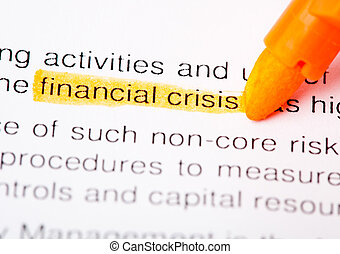financier, crise