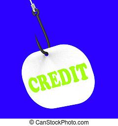 financier, crochet, argent, prêt, moyens, crédit, ou, banque