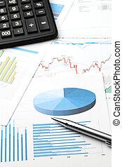 financier, données, analyse