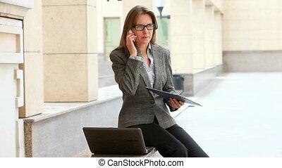 financier, données, téléphone