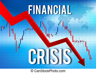 financier, effondrement, économique, fracas, crise, marché