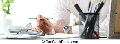 financier, famille, fonctionnement, calculatrice, vacances, occasions, homme mûr, évaluer