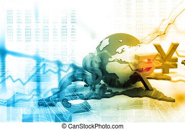 financier, fond, à, global, devises