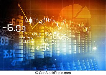 financier, fond, diagramme bourse valeurs