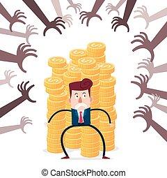 financier, menace