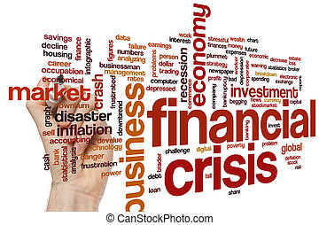 financier, mot, crise, nuage