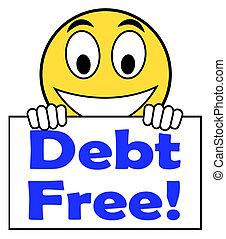 financier, moyens, gratuite, signe, fardeau, dette