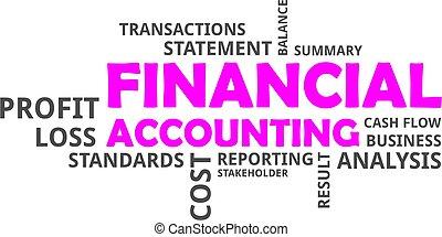 financier, -, nuage, mot, comptabilité