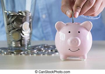 financier, pension, économie, positif, argent, bonheur, retraite
