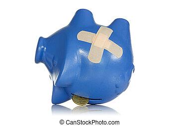 financier, pertes, ou, récession, concept
