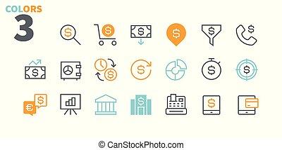 financier, pictogramme, simple, 24x24, stroke., prêt, parfait, toile, 48x48, icônes, apps, 1, well-crafted, pixel, minimal, editable, partie, grille, graphiques, ligne, vecteur, mince