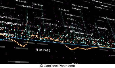 financier, projection, figures, profite, augmenter, diagrammes