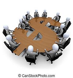 financier, réunion