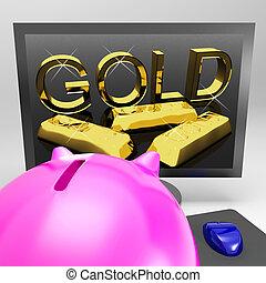 financier, richesse, or, écran, trésor, spectacles