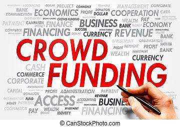 financiering, menigte