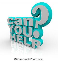 financiero, ayuda, apoyo, lata, súplica, usted, voluntario