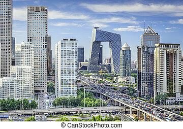 financiero, china, bejing, distrito