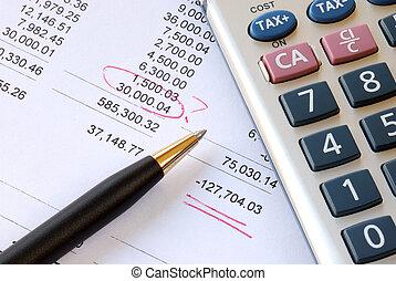 financiero, cuándo, declaración, revisión de cuentas, ...