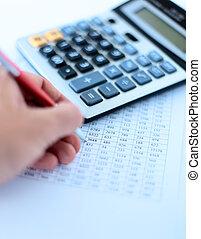 financiero, datos, analizar