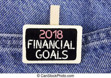 financiero, menos, foto, vaqueros, escritura, estrategia de inversión, fondo., escrito, madera, 2018, texto, conceptual, nuevo, más, empresa / negocio, actuación, mano, goals., ganar, pedazo, ganancias