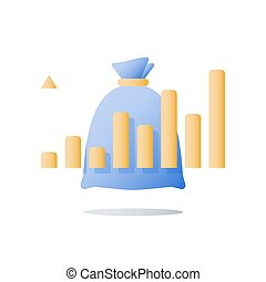 financiero, positivo, tasa, tendencia, ascendente, alto,...