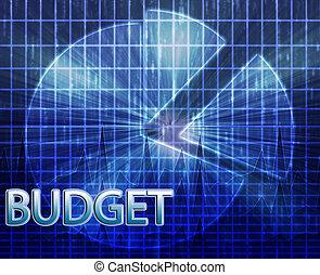 financiero, presupuestación, ilustración