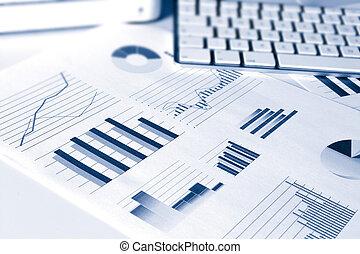 financiero, rendimiento, gráficos