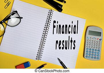 financiero, resultados, palabras