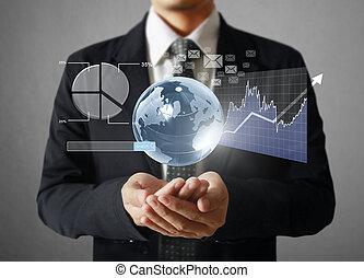 financiero, símbolos, venida, de, han