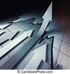 financiero, stat, flechas