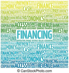 FINANCING word cloud