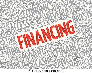 FINANCING word cloud collage