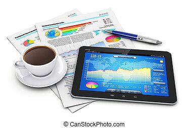finans, begrepp, rörlighet, affär