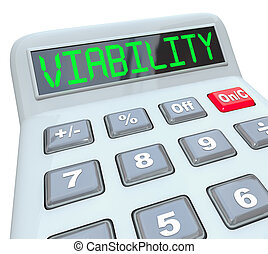 finanse, handlowy, pomyślny, kalkulator, budżet, viability, plan, mod