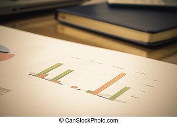 finanse, handlowy, wykres