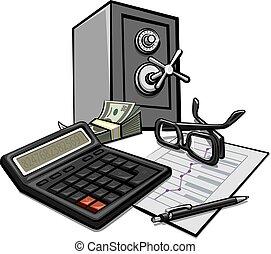 finanse, uważając, od, handlowy