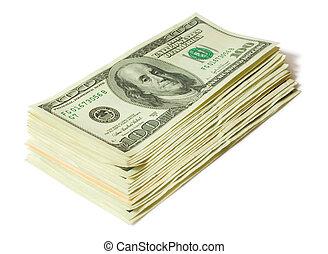 finanser, concepts., pengar