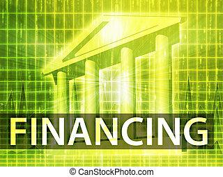 finansering, illustration