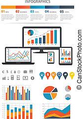 finansiell, infographics