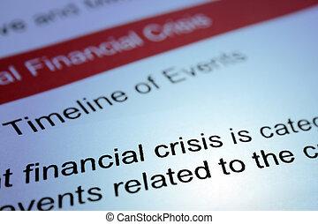 finansiell, kris