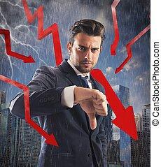 finansiell, kris, oväder