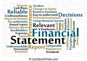 finansiell uttalande
