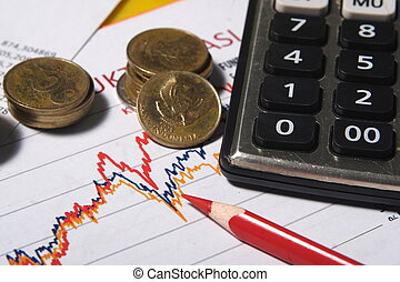 finansielle, eller, bogholderi, begreb
