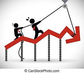 finansielle, konstruktion, krise