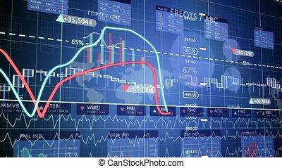 finansowe figury, i, wykresy, podwyższając, profits.