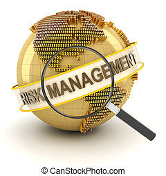 finansowe ryzyko, kierownictwo, 3d, render