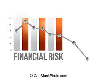 finansowe ryzyko, wykres, ilustracja, projektować