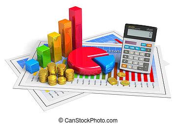 finansowy, handlowy, analytics, pojęcie